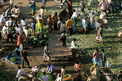 BANGLADESH DHAKA KAWRAN BAZAAR 27FEB05 - Stacks of salad are piled in one corner of the Kawran Bazaar vegetable market. The Bazaar has been in the Tejgaon area for at least 30 years and is one of the largest markets in Dhaka city...jre/Photo by Jiri Rezac ..© Jiri Rezac 2005..Contact: +44 (0) 7050 110 417.Mobile:  +44 (0) 7801 337 683.Office:  +44 (0) 20 8968 9635..Email:   jiri@jirirezac.com.Web:    www.jirirezac.com..© All images Jiri Rezac 2005- All rights reserved.