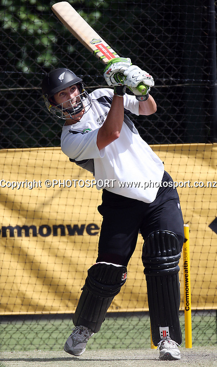 New Zealand batsman Matthew Sinclair.<br />New Zealand Black Caps cricket training session prior to the first Chappell Hadlee Trophy match. Adelaide Oval, Adelaide, Australia. Thursday 13 December 2007.<br />Photo: Andrew Cornaga/PHOTOSPORT