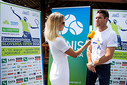 Gregor Krusic (director of Tennis Slovenia) at press conference of ATP Challenger Zavarovalnica Sava Slovenia Open 2018, on August 6, 2018 in Sports centre, Portoroz/Portorose, Slovenia. Photo by Urban Urbanc / Sportida