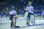 KELOWNA, CANADA - FEBRUARY 14:  Pepsi Player of the game in the line up with Brodan Salmond #31 of the Kelowna Rockets at the Kelowna Rockets game on February 14, 2018 at Prospera Place in Kelowna, British Columbia, Canada.  (Photo By Cindy Rogers/Nyasa Photography,  *** Local Caption ***