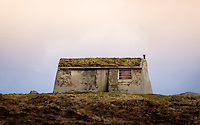 LEWIS AND HARRIS, SCOTLAND - CIRCA APRIL 2016: House in the outer islands of Lewis and Harris in Scotland..
