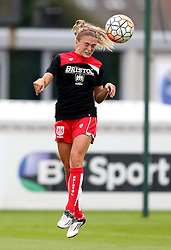 Megan Alexander midfielder/defender for Bristol City Women warms up - Mandatory by-line: Robbie Stephenson/JMP - 27/08/2016 - FOOTBALL - Stoke Gifford Stadium - Bristol, England - Bristol City Women v Everton Ladies - FA Women's Super League 2