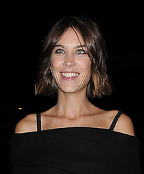 Alexa Chung attends LFW s/s 2016: House of Holland - catwalk show during London Fashion Week. London, UK. 19/09/2015<br />