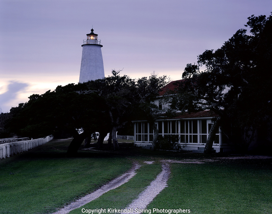 AA05860-02...NORTH CAROLINA - Ocracoke Lighthouse on Ocracoke Island in the Outter Banks.