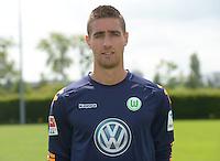 German Soccer Bundesliga 2015/16 - Photocall of VfL Wolfsburg on 16 July 2015 at the Volkswagen-Arena in Wolfsburg, Germany: Koen Casteels