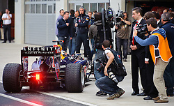 14.05.2011, Red Bull Ring, Spielberg, AUT, RED BULL RING, SPIELBERG, EROEFFNUNG, im Bild Sebastian Vettel, (Red Bull Racing) nach seiner Testfahrt // Sebastian Vettel, (Red Bull Racing) after the test run during the official Opening for the Red Bull Circuit in Spielberg, Austria, 2011/05/14, EXPA Pictures © 2011, PhotoCredit: EXPA/ S. Zangrando