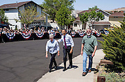 11.MAY.2012. RENO<br /> <br /> CPE/PRESIDENT BARACK OBAMA WALKS WITH VALERIE AND PAUL KELLER TO THEIR HOME TO DISCUSS THE ECONOMY AND MORTGAGE REFINANCING, IN RENO, NEV., MAY 11, 2012.    <br /> <br /> BYLINE: EDBIMAGEARCHIVE.CO.UK<br /> <br /> *THIS IMAGE IS STRICTLY FOR UK NEWSPAPERS AND MAGAZINES ONLY*<br /> *FOR WORLD WIDE SALES AND WEB USE PLEASE CONTACT EDBIMAGEARCHIVE - 0208 954 5968*