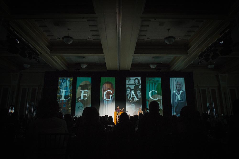 Alissa Henry delivers the opening remarks during Ohio University's 2016 Black Alumni Reunion Gala held at the Baker Center Ballroom on Friday, September 16, 2016.