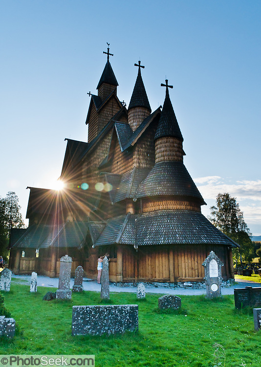 """Heddal stave church is Norway's largest stave church. This triple nave stave church, which some call """"a Gothic cathedral in wood,"""" was built in the early 13th century and restored in 1849-1851 and the 1950s. Heddal stavkirke is in Notodden municipality, Telemark County, Norway."""