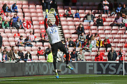 Sunderland goalkeeper Vito Mannone (25)  during the Barclays Premier League match between Sunderland and Leicester City at the Stadium Of Light, Sunderland, England on 10 April 2016. Photo by Simon Davies.