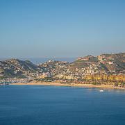 Aerial view of the bay of Cabo San Lucas. Baja California Sur, Mexico.