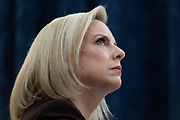 Secretary of Homeland Security, Kirstjen Nielsen, testifies before the House Homeland Security Committee in March 2019. A tweet from US President Donald J. Trump announced her abrupt resignation on Sunday April 7th 2019, two days after Trump visited the US- Mexico border and promising to get tougher on immigration.
