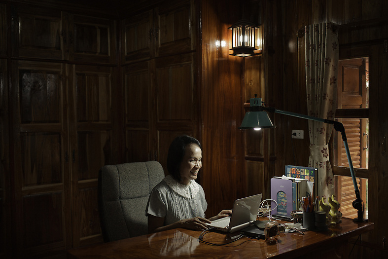 Mrs. Kaysorn Vongmanee, head of the district public health department, in her studio at home. <br /> Petchabun, Thailand. Aug 24 2014<br /> Credit : Giorgio Taraschi for The New York Times
