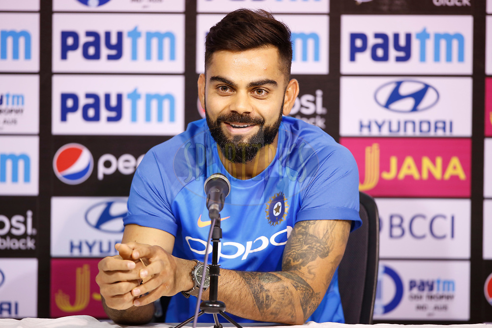 Virat Kohli captain of India during the press conference held at the M. A. Chidambaram Stadium in Chennai ahead of the 1st One Day International match.  16th September 2017<br /> <br /> Photo by Deepak Malik / BCCI / SPORTZPICS
