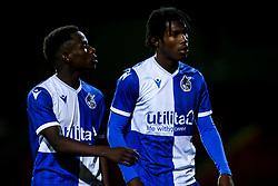 Henry Njonjo of Bristol Rovers and Levi Paul of Bristol Rovers - Mandatory by-line: Robbie Stephenson/JMP - 29/10/2019 - FOOTBALL - County Ground - Swindon, England - Swindon Town v Bristol Rovers - FA Youth Cup Round One