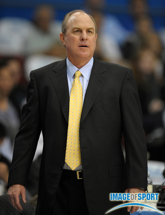 Dec 20, 2011; Los Angeles, CA, USA; UCLA Bruins coach Ben Howland reacts during the game against the UC Irvine Anteaters at the Los Angeles Memorial Sports Arena. UCLA defeated UC Irvine 89-60.