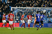 Goal scored by  Sheffield Wednesday midfielder Adam Reach (20)  during the EFL Sky Bet Championship match between Sheffield Wednesday and Middlesbrough at Hillsborough, Sheffield, England on 19 October 2018.