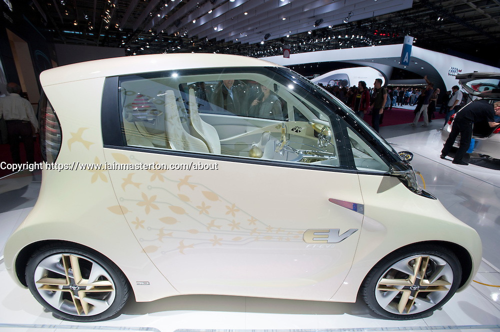 Future Toyota Electric Vehicle or FT-EVII at Paris Motor Show 2010