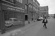 Workers leaving James Neill, Renton Street, Sheffield.