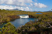 The waterfalls chutes de la Madeleine on the south coast of Grande Terre, New Caledonia, Melanesia, South Pacific