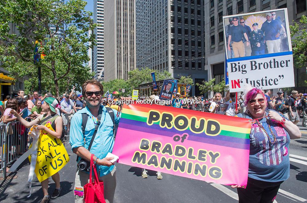 participants at the annual San Francisco Gay pride parade