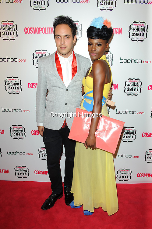 Dan Smith and Shingai Shoniwa at Cosmopolitan's Ultimate Women Awards 2011 in London, Thursday, November 3rd 2011.  Photo by: i-Images