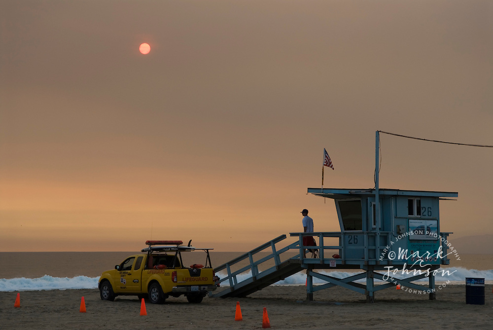 Lifeguard, Santa Monica Beach, Los Angeles, California