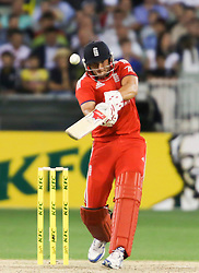 © Licensed to London News Pictures. 26/12/2013. Tim Bresnan batting during the 2nd T20 international between Australia Vs England at the Melbourne Cricket Ground, Victoria, Australia. Photo credit : Asanka Brendon Ratnayake/LNP