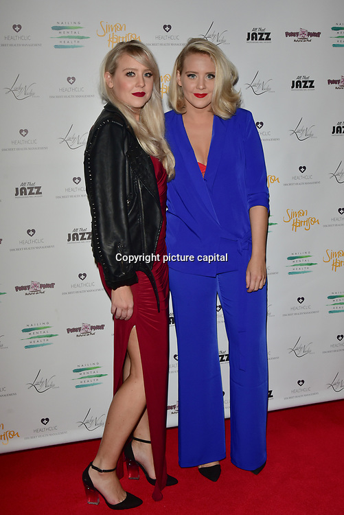 The Mac Twins Arrivers at the Nailing Mental Health: Valentine's Ball The Hurlingham Club, Ranelagh Gardens on 14 Feb 2018, London, United Kingdom