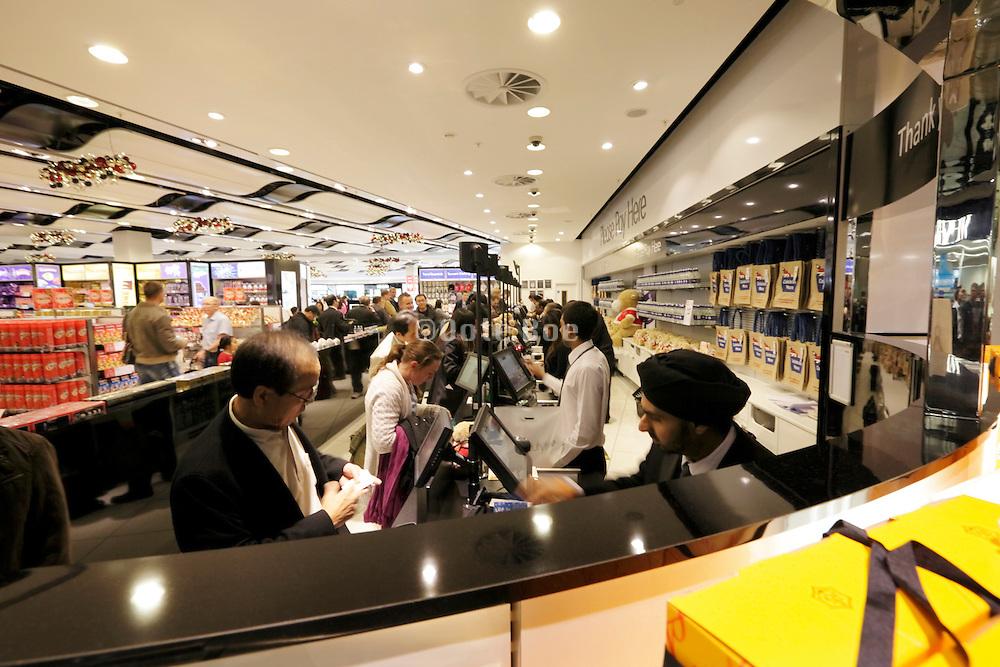 duty free shopping at Heathrow airport terminal