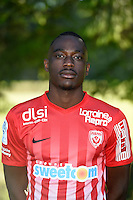 Yann Mabella of Nancy poses for a portrait during the Nancy squad photo call for the 2016-2017 Ligue 1 season on August 25, 2016 in Nancy, France<br /> Photo : Fred Marvaux / Icon Sport