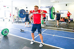 Ian Madigan in action in the gym as Bristol Bears train and prepare for the 2018/19 Gallagher Premiership Rugby Season - Mandatory by-line: Robbie Stephenson/JMP - 16/07/2018 - RUGBY - Clifton Rugby Club - Bristol, England - Bristol Bears Training