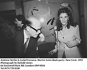 Andrew Wyllie & Isabel Fonseca. Martin Amis Book party. New York. 1993<br /><br />Photograph by Dafydd Jones<br />66 Stockwell Park Rd. London SW9 0DA<br />Tel 0171 733 0108
