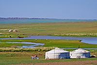 Mongolie, province de Dundgov, campement nomade // Mongolia, Dundgov province, Gobi desert, nomad camp