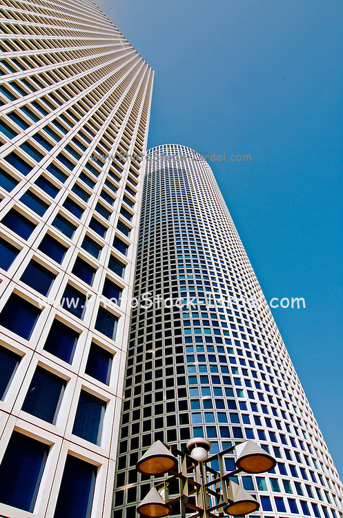 Sky scrapers at Azrieli center, Tel Aviv, Israel
