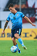 GUANGZHOU, CHINA - MAY 03:  Riley Paul Woodcock of Sydney FC in action during the AFC Asian Champions League match between Guangzhou Evergrande FC and Sydney FC at Tianhe Stadium on May 3, 2016 in Guangzhou, China.  (Photo by Aitor Alcalde Colomer/Getty Images)