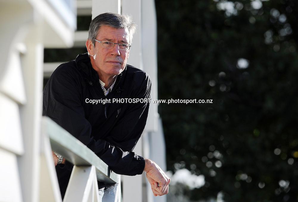 NZC Director of Cricket John Buchanan (former Cricket Australia coach) poses for a photo. Press conference announcing a new national selection system. Auckland Cricket, Eden Park, Auckland, Wednesday 8 June 2011. Photo: Andrew Cornaga/photosport.co.nz
