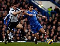 Photo: Ed Godden.<br />Chelsea v Fulham. The Barclays Premiership. 30/12/2006.<br />Fulham's Moritz Volz (L), challenges Michael Ballack.