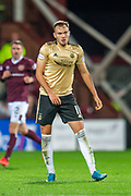 Ryan Hedges (#11) of Aberdeen FC during the Betfred Scottish Football League Cup quarter final match between Heart of Midlothian FC and Aberdeen FC at Tynecastle Stadium, Edinburgh, Scotland on 25 September 2019.