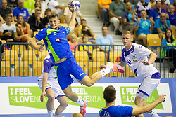 Tim Rozman of Slovenia during handball match between National teams of Slovenia and Iceland in Main Round of 2018 EHF U20 Men's European Championship, on July 25, 2018 in Arena Zlatorog, Celje, Slovenia. Photo by Urban Urbanc / Sportida
