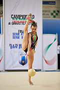 Ilaria Braschi from Etruria team during the Italian Rhythmic Gymnastics Championship in Padova, 25 November 2017.
