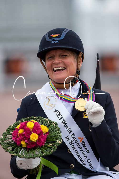 Hannelore Brenner and Women of the World Champion Individual Grade III - Team Competition Grade III Para Dressage - Alltech FEI World Equestrian Games&trade; 2014 - Normandy, France.<br /> &copy; Hippo Foto Team - Jon Stroud <br /> 25/06/14