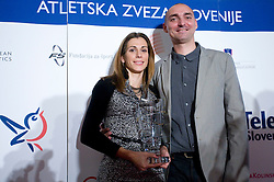 Marija Sestak and her coach and husband Matija Sestak, Best Slovenian athletes of the year at ceremony, on November 15, 2008 in Hotel Lev, Ljubljana, Slovenia. (Photo by Vid Ponikvar / Sportida)