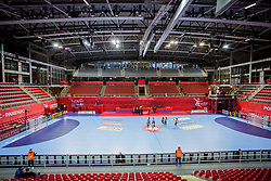 Arena Zatika during handball match between National teams of Belarus and Austria on Day 1 in Preliminary Round of Men's EHF EURO 2018, on January 12, 2018 in Arena Zatika, Porec, Croatia. Photo by Ziga Zupan / Sportida
