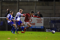 Jake Andrews of Bristol City is fouled - Mandatory by-line: Paul Knight/JMP - 16/11/2017 - FOOTBALL - Woodspring Stadium - Weston-super-Mare, England - Bristol City U23 v Bristol Rovers U23 - Central League Cup
