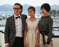 Song Sae Byuk, Kim Sae Ron and Doona Bae who star in the film   Dohee-ya, A Girl At My Door, at the 67th Cannes Film Festival, Tuesday 20th May 2014, Cannes, France.