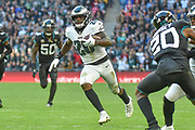 Philadelphia Eagles Wendell Smallwood RB (28) runs in to touch down during the International Series match between Jacksonville Jaguars and Philadelphia Eagles at Wembley Stadium, London, England on 28 October 2018.