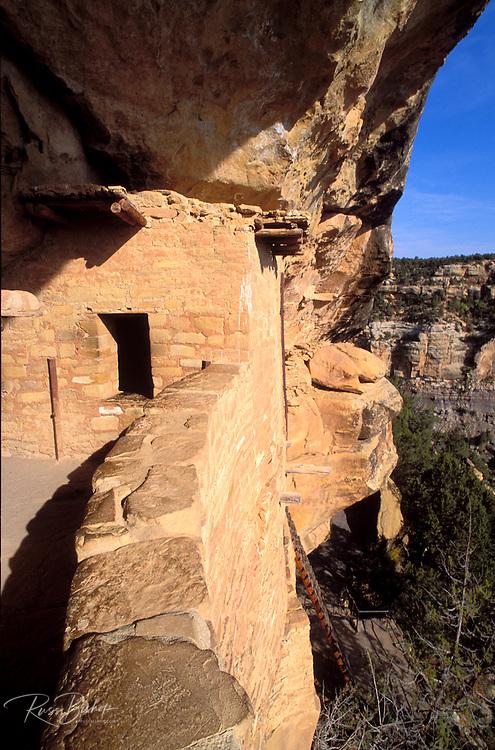 Window and balcony at Balcony House Ruin, Mesa Verde National Park (World Heritage Site), Colorado.