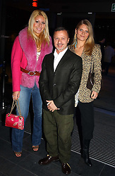Left to right, BEVERLEY BLOOM, JACQUES AZAGURY and ARABELLA TOBIAS at the launch party for 'The London Look - Fashion From Street to Catwalk' held at the Museum of London, London Wall, Londom EC2 on 28th October 2004<br />