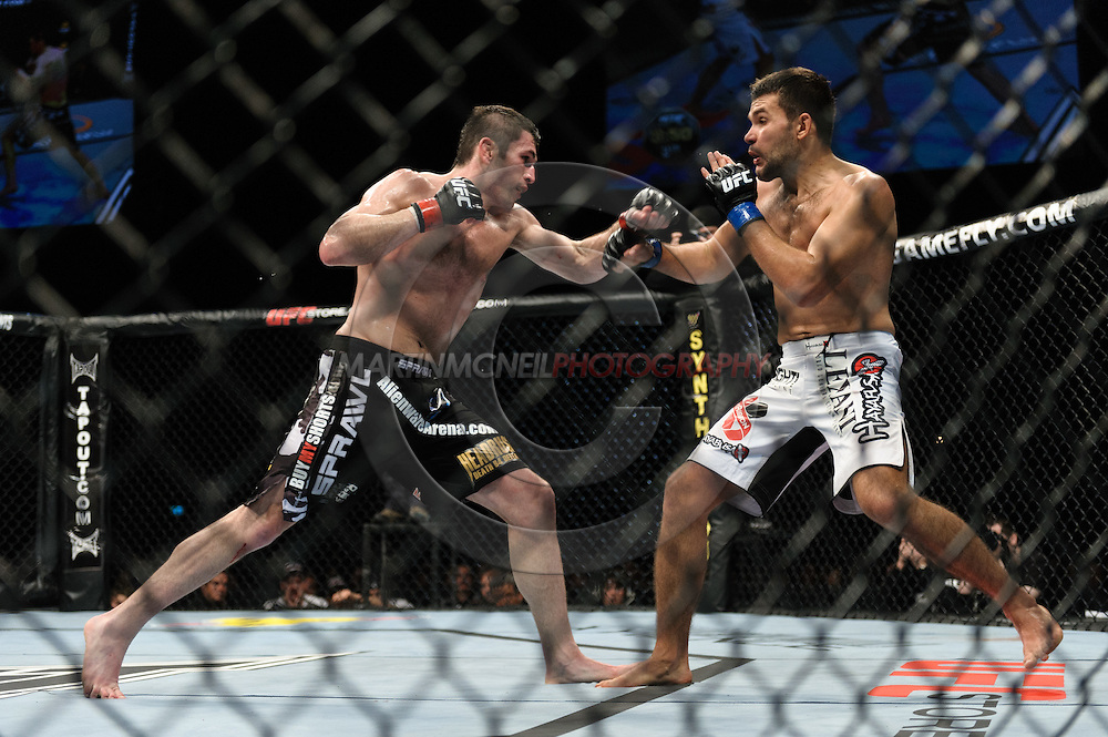 OBERHAUSEN, GERMANY, NOVEMBER 13, 2010: Amir Sadollah and Peter Sobotta during UFC 122 inside the Konig Pilsner Arena in Oberhausen, Germany.